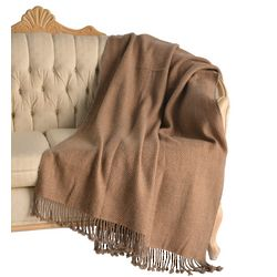 Yak Cashmere and Camel Wool Throw