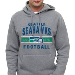 Seattle Seahawks Heathered Gray Team Arch Pullover Hoodie