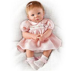 Little Rose Petal Vinyl Baby Doll
