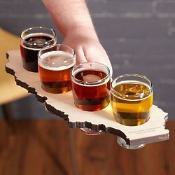 Home State Personalized Beer Flight Set