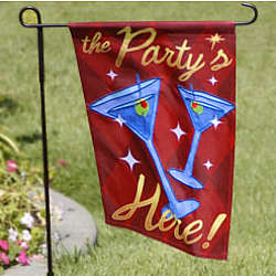 The Party is Here Small Flag
