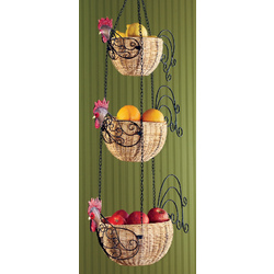 Hanging Rooster Baskets