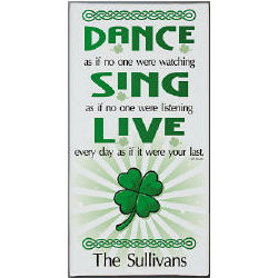 Dance, Sing, Live Personalized Wall Canvas