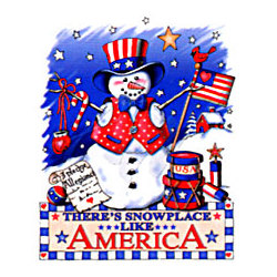 Patriotic Snowman Christmas T-Shirt