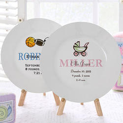 All About Me Personalized Baby Plate