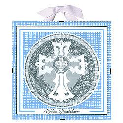 Baptism / Christening Plaque in Blue