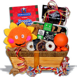Pampered Dog Gift Basket