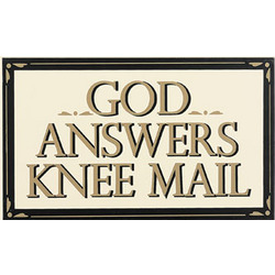 Go Answers Knee Mail Sign