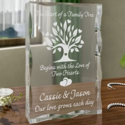 Personalized Family Tree Plaque