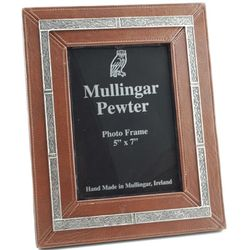 Leather and Pewter 5x7 Celtic Frame