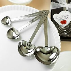 Heart Shaped Measuring Spoons Favors