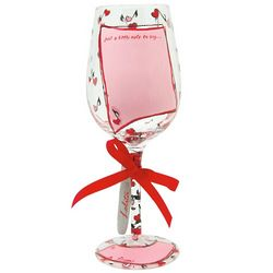 Love Note Personalized Wine Glass