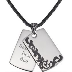 Tattoo Border Dog Tags