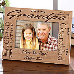 Personalized Grandpa Wood Picture Frame