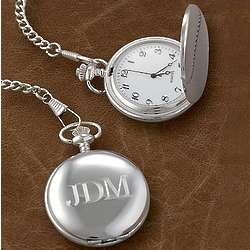 Personalized Silver Tone Pocket Watch