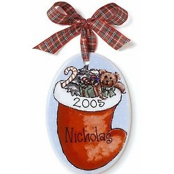 Personalized Oval Stocking Ornament