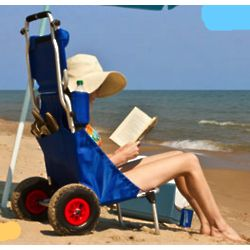 Foldable Beach and Fishing Chair with Storage