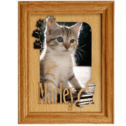 Personalized Cat Alderwood Frame