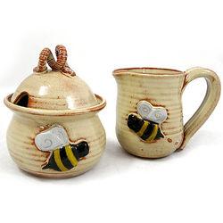 Bee Sugar and Creamer Set