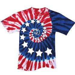Tie Dye Spiral Stars T-Shirt