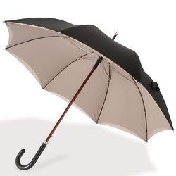 Gentleman's Double Canopy Umbrella with Wood Shaft