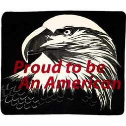 Proud to be an American Throw Blanket