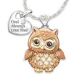 Granddaughter Owl Always Love You Pendant