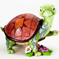 Turtle in Flowers Figurine