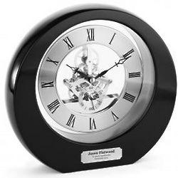 Personalized Ebony Interactive Gear Desk Clock