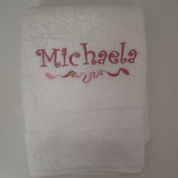 Personalized Princess Wand Kid's Bath Towels