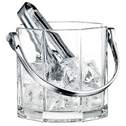 Chiseled Glass Ice Bucket