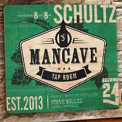 Personalized Man Cave Tap Room Wooden Bar Sign