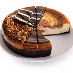 Chocolate Lover's 4-Flavor Cheesecake Sampler