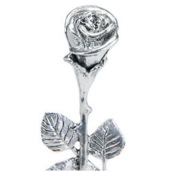 "9"" Silver Kissing Rose"