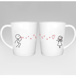 From My Heart to Yours Matching Couple Mug Set