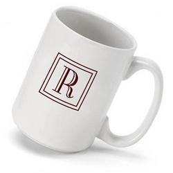 Initial Monogrammed Coffee Mug