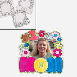 Color-Your-Own Mom Photo Frame Magnets