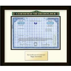 Framed WD-40 Certificate