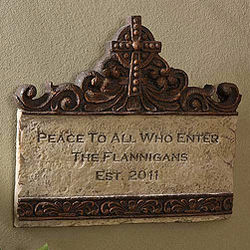 Peace To All Who Enter Personalized Plaque