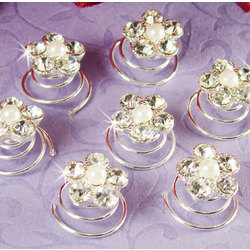 Pearl & Crystal Bridal Hair Twist In's