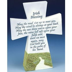 Resin Table Top Irish Blessing Cross