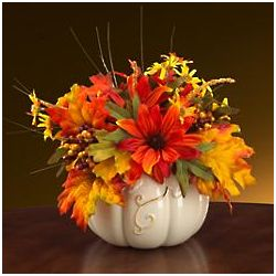 Arranged for the Holidays Pumpkin Centerpiece