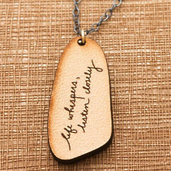 Whisper Etched Leather Pendant