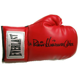 Hurricane Carter Signed Everlast Boxing Glove