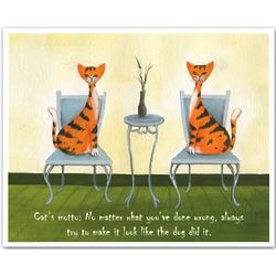 Cat's Motto Personalized Print