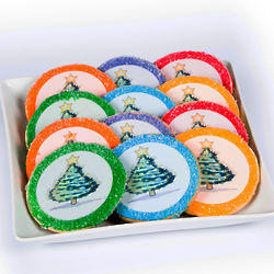 12 Eat 'n' Tree Christmas Bulb Sugar Cookies