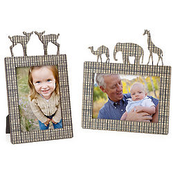 Handcrafted Wood Animal Picture Frame