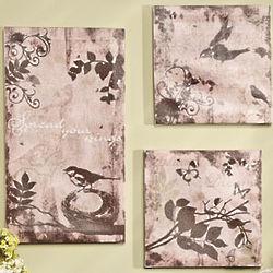 Bird Print Canvases