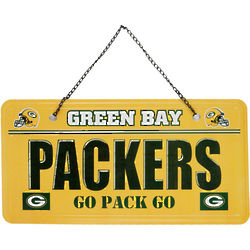 Green Bay Packers License Plate Sign