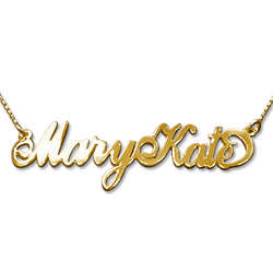 Two Capital Letters 14K Gold Carrie-Style Name Necklace
